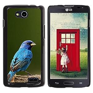 YOYOYO Smartphone Protección Defender Duro Negro Funda Imagen Diseño Carcasa Tapa Case Skin Cover Para LG OPTIMUS L90 D415 - azul pájaro cantor azul de primavera verde de la naturaleza