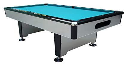 Silver Knight 8 Ft. Slate Pool Table (Drop Pockets)