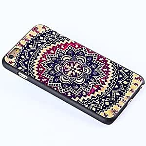TL Flowers of Folk Style Pattern Plastic Hard Cover for iPhone 6 Plus