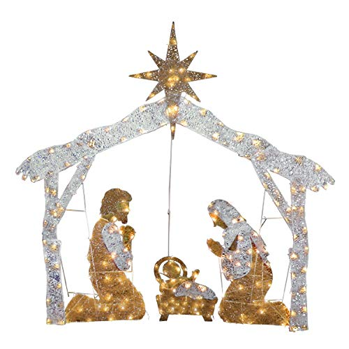 National Tree Outdoor Decor Accessory, White (Large Lighted Nativity)