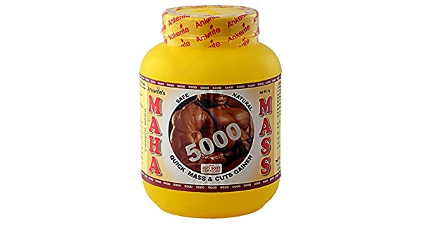 Amazon.com: Ankerite Maha Mass 5000 Gainer (Chocolate) - 1000 g: Health & Personal Care