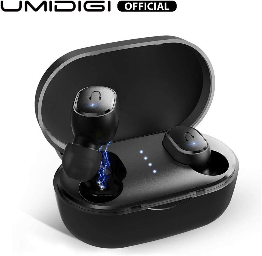 UMIDIGI Upods Auriculares Bluetooth 5.0 Auriculares inalámbricos In Ear Auriculares Manos Libres con Cancelación de Ruido Auriculares magnéticos para iOS y Android Smartphone (Negro)