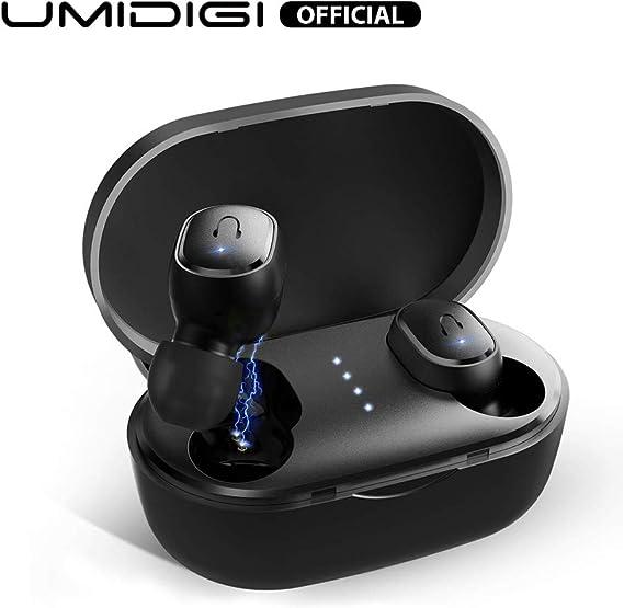 UMIDIGI Upods Auriculares Bluetooth 5.0 Auriculares inalámbricos In Ear Auriculares Manos Libres con Cancelación de Ruido Auriculares magnéticos para iOS y Android Smartphone (Negro): Amazon.es: Electrónica
