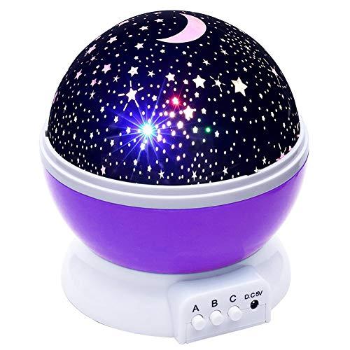 - HRUIHKV 2018 New Stars Starry Sky LED Night Light Projector Moon Novelty Table Night Lamp Battery USB Night Light for Children