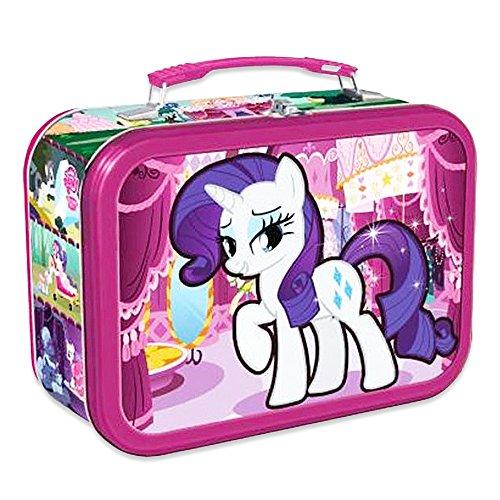 My Little Pony Lunch Box - Deluxe Rarity Unicorn Tin Lunchbox (My Little Pony School (Little Tin Box)