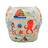 Babygoal Baby Swim diapers, Babygoal Reuseable Washable and Adjustable for Swimming, Outdoor Activities and Daily Use, Fit Babies 0-2 Years SWD46-CA