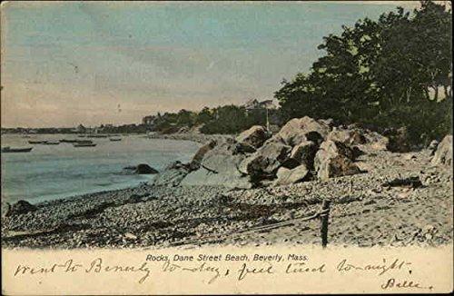 - Rocks Dane Street Beach Beverly, Massachusetts Original Vintage Postcard
