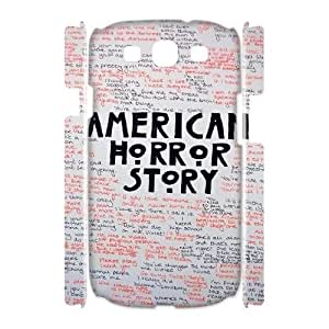 wugdiy Custom Hard Plastic Back 3D Case Cover for Samsung Galaxy S3 I9300 with Unique Design American Horror Story
