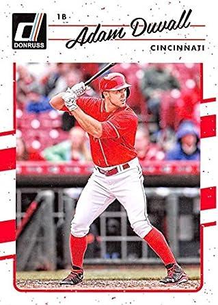d965b3514 Amazon.com  2017 Donruss  80 Adam Duvall Cincinnati Reds Baseball ...