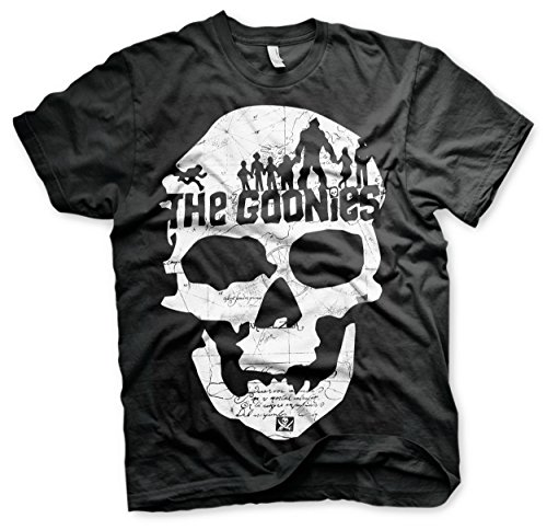 Goonies T Shirt Skull Official Mens Black -