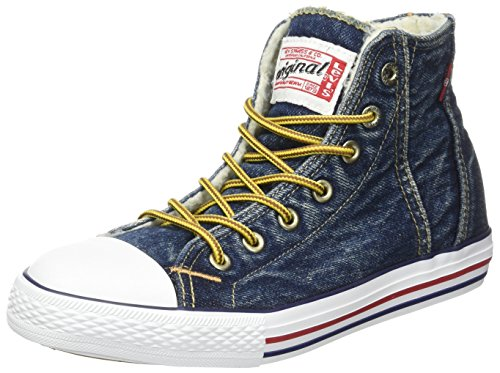 Levis Original Red Tab Hi Fur, Zapatillas Altas Para Niños Azul (Blue Denim)