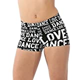 Alexandra Collection Womens Love Dance Athletic Booty Short White Medium