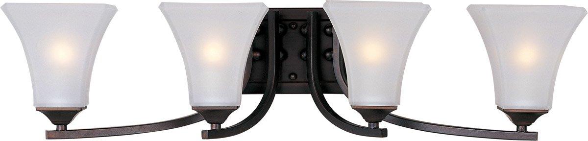 浴室洗面化粧台4ライト電球器具のオイルはブロンズ仕上げスチール材質Medium電球30インチ400ワット B07DB3XJKD