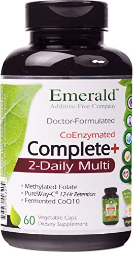 Emerald Laboratories - Complete 2-Daily Multi - Multivitamin with Coenzymes + Antioxidants + CoQ10 & Full Spectrum Carotenoids - 60 Vegetable (Carotenoid Antioxidant)
