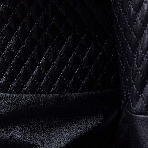 Mode Blazer Aderente Un 2 Bolawoo Di Casual In Uomo Da Bottone Vestibilità Style Nera Pelle Giacca Uomo Marca Scozzese UUORq7zn
