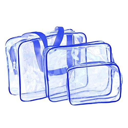 TRENDINAO Hanging Toiletry Bag for Men & Women & Children Travel Must-Transparent Materproof Pouch Cosmetic Wash Bath Supplies (Blue) (Wicker Furniture Ikea)