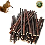 Simona Micah 500g Organic Apple Sticks Wood Tree Branches Pet Snacks Chew Toys Branch for Guinea Pigs Chinchilla Squirrel Rabbits Hamster Small Animals