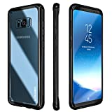 Galaxy S8 Case,Clear Slim Hybrid Armor Perfect Fit Hard Anti Scratch Back Excellent Grip Flexible Tpu Non Slip Non Bulky Full Body Shockproof Protective Cover for Galaxy S8 - Black