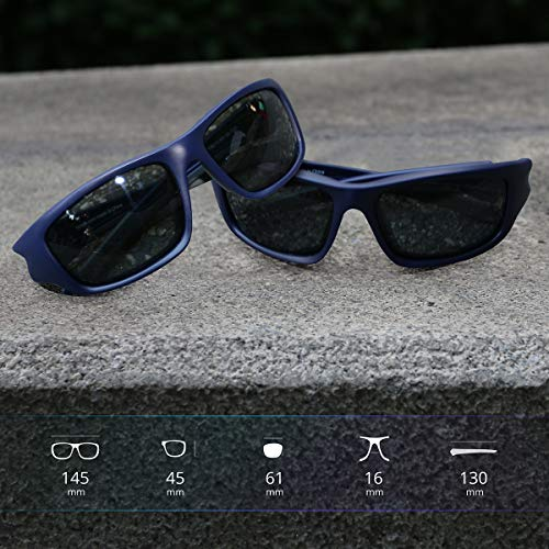 c9a0eec858 TOREGE Polarized Sports Sunglasses for Man Women Cycling Running Fishing  Golf TR90 Unbreakable Frame TR011 -
