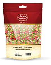 Spicy World Sugar Coated Fennel Candy 200g (7oz) ~ Vegan | Indian After Meal Digestive Treat | All Natural Colors