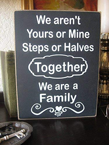 - Blended Family Sign Blended Family Family Sign New Family Sign Farmhouse Primitive Market Joanna Gaines Wooden Plaque Sign Crafts for Living Room Decorative