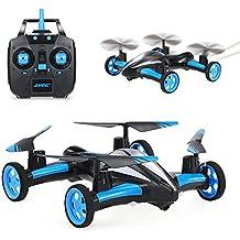 szjjx air-ground Quadcopter RC Drone giroscopio de 6ejes Flying Car 2.4Ghz 6CH Tierra/Cielo 2Modos de helicóptero 2en 1Toy (Amarillo), Azul