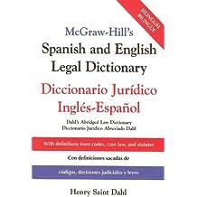 McGraw-Hill's Spanish and English Legal Dictionary: Doccionario Juridico Ingles-Espanol