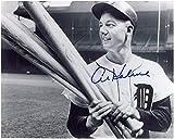 Al Kaline Signed Picture - 8x10 Holding Bats - Autographed MLB Photos