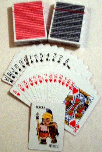jugando a las cartas, Póker Tarjetas, original, recubierto ...