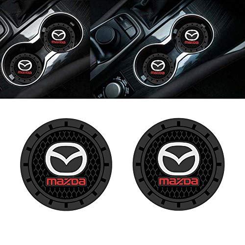 Yuanxi Electronics 2 Pcs 2.75 inch Car Interior Accessories Anti Slip Cup Mat for for Mazda 2, 3,5,6, CX-5,CX-7,CX-8,M6, MX5,RX7, RX8, A8, CX9, MX6,R3, M2 M3,M5, etc.