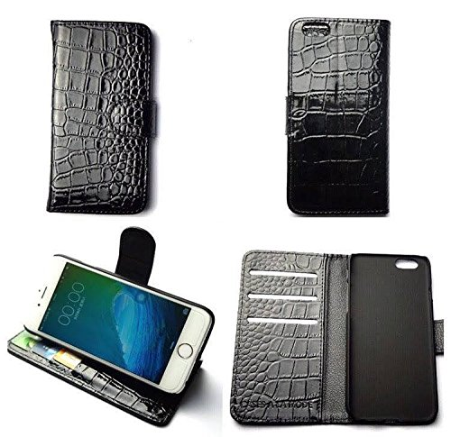 CASES A LA MODE Faux Croc Aligator Leather Wallet Case for Samsung Galaxy S6.