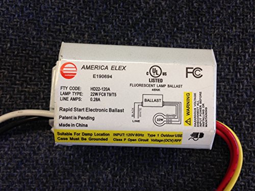 10 PIECE AMERICA ELEX HD22-120A 120V FOR 22W FC8 T9/T5 ELECTRIC BALLAST by America Elex