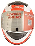 S.L LS2 FF352 Trooper Full Face Helmet (Multicolour, Large)