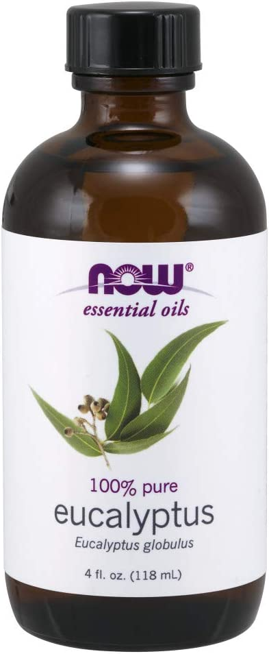 NOW Essential Oils, Eucalyptus Oil, Clarifying Aromatherapy Scent, Steam Distilled, 100% Pure, Vegan, 4 Fl Oz (1 Count)