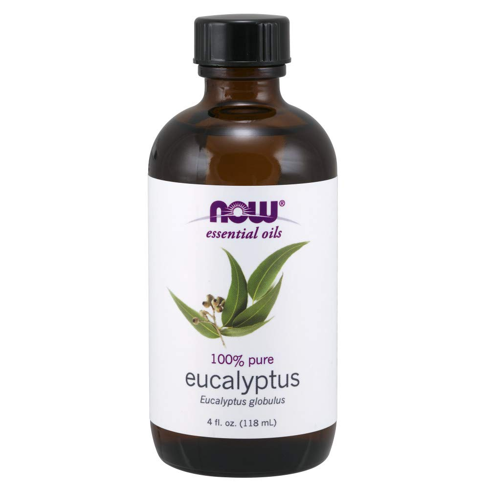 NOW Essential Oils, Eucalyptus Oil, Clarifying Aromatherapy Scent, Steam Distilled, 100% Pure, Vegan, 4 Fl Oz (1 Count) by NOW Foods