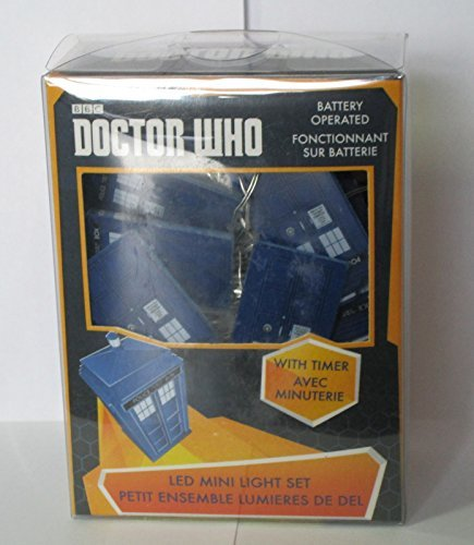 Kurt Adler Battery Operated 20L Dr Who Icon Led Fairy Lites -