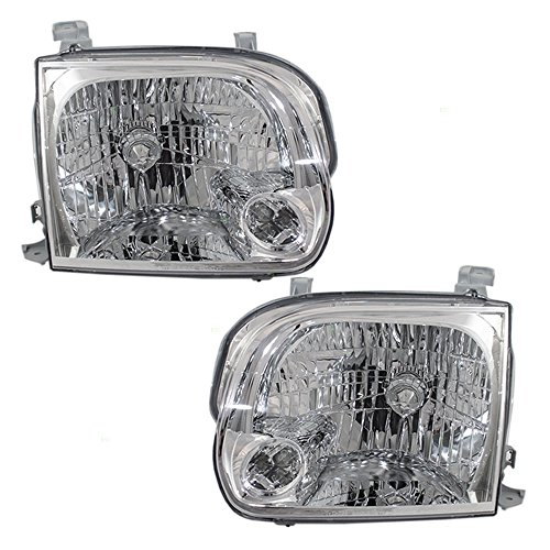 Driver and Passenger Headlights Headlamps Replacement for Toyota Pickup Truck SUV 811500C031 811100C031 AutoAndArt