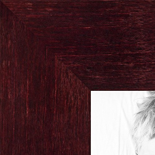 ArtToFrames 13x16 inch Dark Cherry Stain on Hard Maple Wood Picture Frame, 2WOM0066-71206-YCHY-13x16