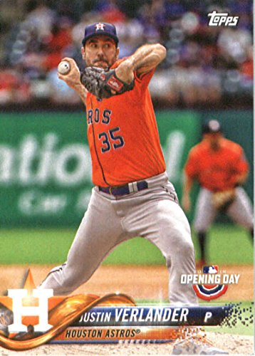 fan products of 2018 Topps Opening Day #52 Justin Verlander Houston Astros Baseball Card