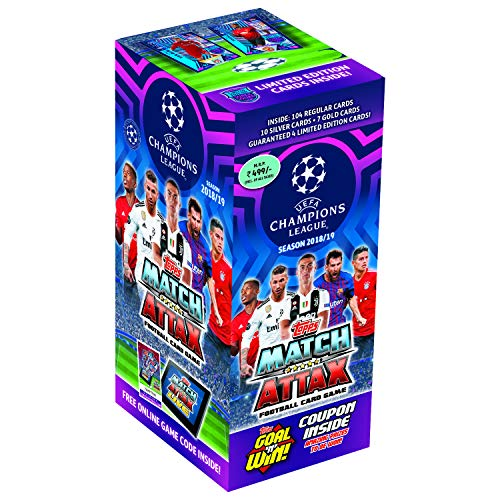 Topps UEFA Champions League TCG Collection Smart Pack 2018/19, Total 125 Cards Pack