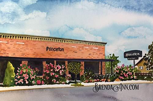- Princeton in Avalon NJ - Fine Art Wall Art Artwork Watercolor Print by Brenda Ann
