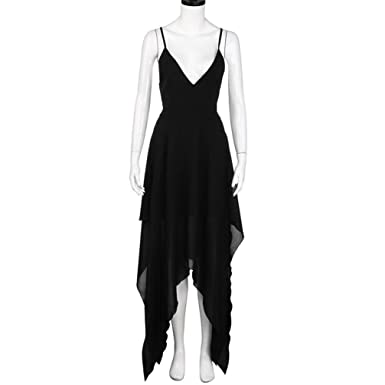 aa29c16f54 Twinsmall Summer Black Women Boho Long Evening Party Cocktail Casual Beach  Dress Sundress at Amazon Women s Clothing store