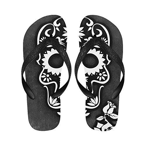 LEINTEREST skull and crossbones Flip Flops Beach Slipper for Men/Women GyLALSyMT7