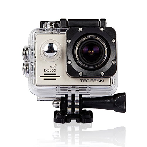TEC.BEAN EX5000 1080P 2.0inch 14MP WIFI Waterproof Action Camera with 2 Batteries and Free Mounting Accessories...