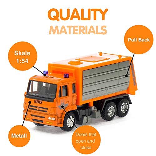 AutoGrad Orange Metal Garbage Truck Toy| Bulldozer Bull Dozer Toy Car Kids Toddlers