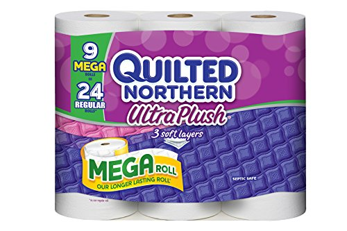 Quilted Northern Ultra Plush Mega Roll, 9 Count