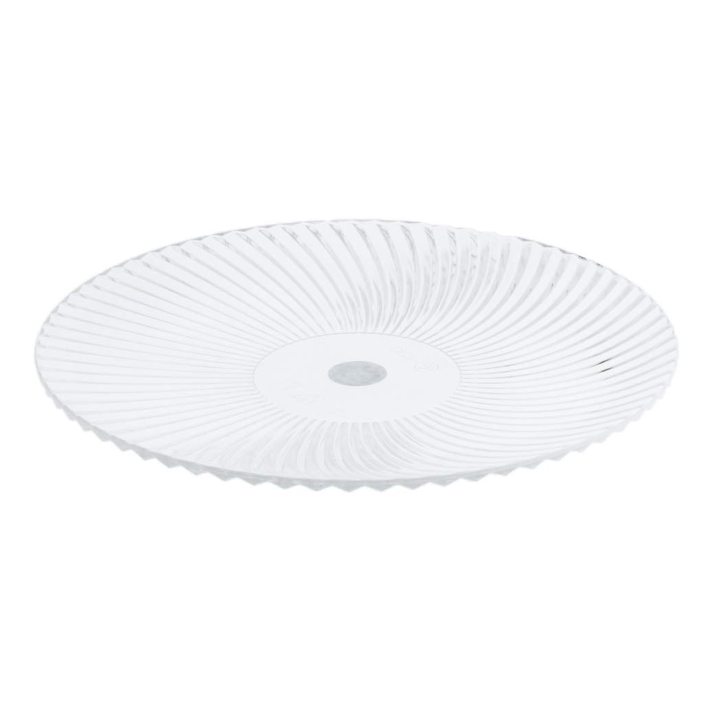 Baosity Round Clear Dish Plate Food Serving Tray Flat Fruit Platter, Made of acrylic plastic, easy to clean - 15cm