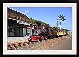 GreatBIGCanvas ''Sugar Cane Train, Maui, Hawaii, U.S.A.'' Photographic Print with black Frame, 36'' X 24''''