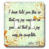 3dRose lsp_150071_2 Bible Verse John 15-11 Gradient Swirl Pastel Bible Christian Inspirational Saying Light Switch Cover