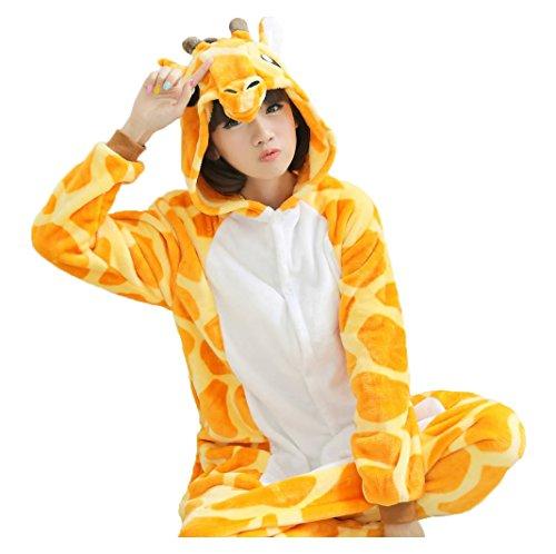 Unisex Adult Animal Oneise Kigurumi Pajamas Halloween Cosplay Costume S Yellow Giraffe